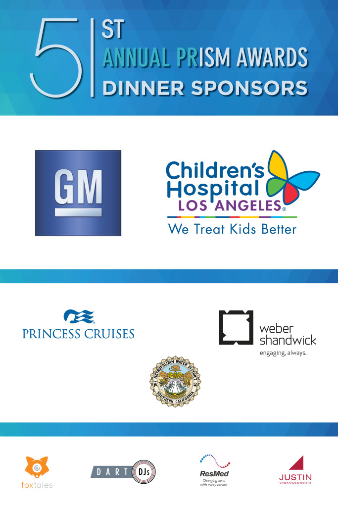 51st Annual PRism Awards Dinner Sponsors